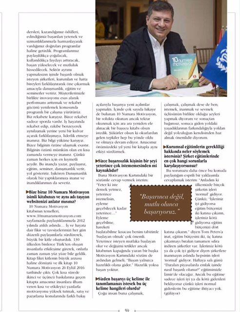 Büyük Kulüp Dergisi röportajı